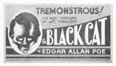 Ad mat for the BLACK CAT (1934)