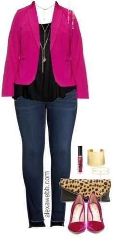 Plus Size Pink Blazer Outfit - Plus Size Date Night Outfit - Plus Size Fashion for Women - alexawebb.com