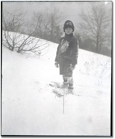 Harold Hammond, High Park, February 1910, M. O. Hammond, Black and white negative, Reference Code: F 1075, H403   Archives of Ontario, I0000927