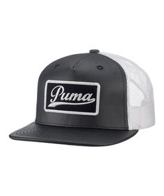 PUMA Black Shophand Snapback Trucker Hat - Women   Men e11d4f2e694