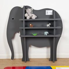 Zebedee the elephant bookshelf