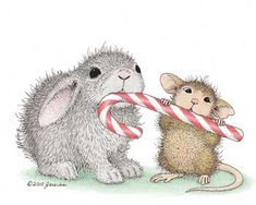 """""""Wishing you many happy moments with good friends this holiday."""" from House-Mouse Designs®"""
