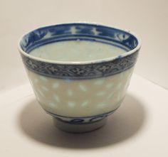 Late qing rice grain porcelain bowl
