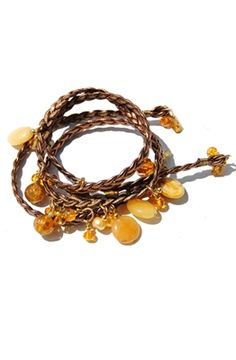 Add earthy #metallic tones to your outfit with this copper braided leather wrap #bracelet! #jewelry