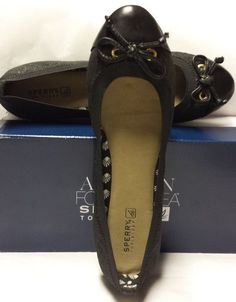 NEW Sperry Top Sider Black Quilted Jaquard Ballet Flats Shoes 7M 7 M NEW IN BOX #SperryTopSider #BalletFlats #CasualorWeartoWork