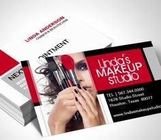 Cosmetologist Business Card Template | Makeup artist business ...