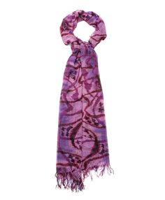 Brush Houndstooth Scarf (Purple) - StyleMint Can't go wrong with a scarf!