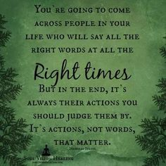 Actions, not just words.