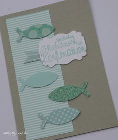 made-by-imme.de: Idee N° 2 Konfirmationskarten Stamping Up, Scrapbook Albums, Diy Cards, Birthday Cards, Postcards, Invitations, First Communion, Cards Diy, Card Crafts
