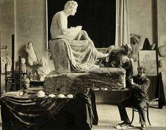 Max Klinger at work on Beethoven sculpture