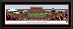Texas Tech Red Raiders - Jones ATT Stadium - Framed Panoramic Photo