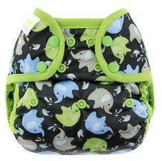 """""""Elephant"""" Blueberry Capri Diaper Covers - Snaps"""