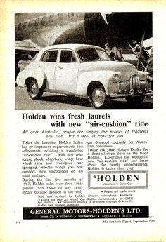 https://flic.kr/p/MX7DrW | 1953 FX 48-215 Holden Sedan Aussie Original Magazine Advertisement