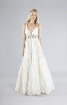 Zoe Bridal Gown from Nicole Miller omg i love the way the fabric falls so perfect for an outdoor wedding