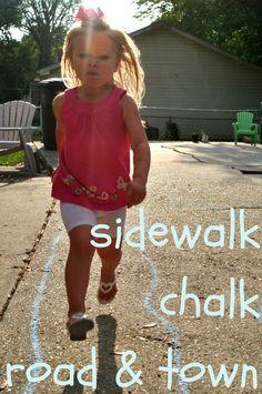 The Iowa Farmer's Wife: Sidewalk Chalk Road & Town
