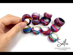 (Part 1 - English) Video tutorial: Bright ring from polymer clay with a hole cut outs ! - YouTube