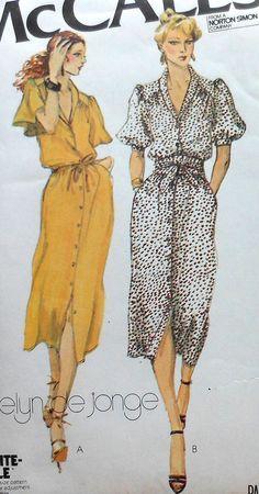 Vintage Dress Sewing Pattern McCalls 6579 Size por latenightcoffee