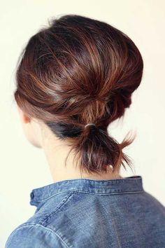 10 Best Ponytail Hairstyles For Short Hair | http://www.short-hairstyles.co/10-best-ponytail-hairstyles-for-short-hair.html
