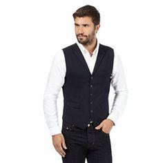 Hammond & Co. by Patrick Grant Navy wool blend pocket waistcoat- at Debenhams.com