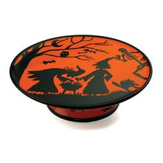 Set your table in Halloween style with the eye-catching Potion Pedestal Server, showcasing a delightful All Hallow's Eve motif in a bold black and orange palette. Halloween Dishes, Halloween Potions, Halloween Night, Holidays Halloween, Vintage Halloween, Halloween Decorations, Halloween Stuff, Halloween Ideas, Halloween Entertaining