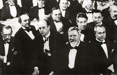 "A most distinguished gathering--Igor Stravinsky, Nikolai Medtner, Wilhelm Furtwängler, Frederick Steinway, Józef Hofmann, Robert Leigh Ibbs, Friedrich ""Fritz"" Kreisler, Sergei Rachmaninoff, and Alexander Siloti"