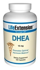 Life Extension DHEA (Dehydroepiandrosterone) 15mg 100 Caps - Anti-aging - Shop by Health Condition - Vitamins, Minerals, Herbs & More