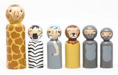 Safari wooden toys ~ so cute!
