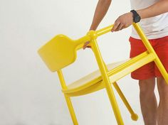 Sweet yellow candy chair by Jeong Yong