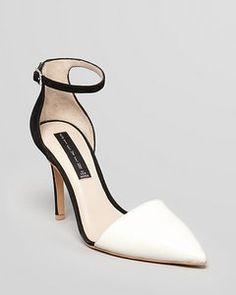 e82d60cf5f5e I am looking for a lovely white and black pump - this may be the one