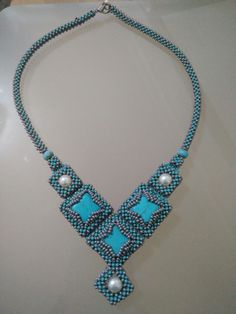 Turquoise Necklace, Beaded Necklace, Jewelry, Fashion, Beaded Collar, Moda, Jewlery, Pearl Necklace, Jewerly