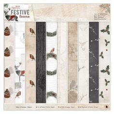 Paper Pad 12x12 - Festive Fauna (30 x 30 cm) - Baste-Welt Schobes