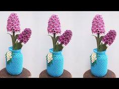 3D Origami Flower Vase V16 Tutorial | DIY Paper Flower Vase Home Decor - YouTube