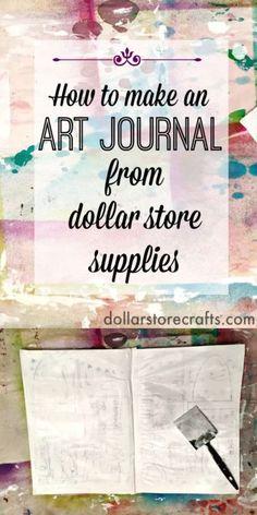 How to Make an Art Journal From a Notebook | eBay