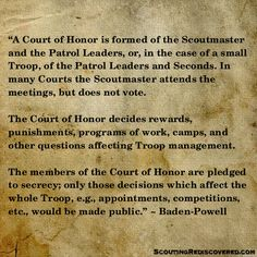 The Traditional Court of Honor