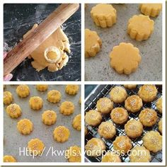 INTRODUCTION My Chinese cookies post should almost come to an end in a few days and I will be concentrating to bake my Chinese New Year cookies. Meanwhile, I have many savoury dishes recipes lined … Chinese Cookies Recipe, No Egg Cookie Recipe, Chinese New Year Cookies, New Years Cookies, Biscuit Recipe, Cookie Recipes, Dessert Recipes, Egg Yolk Cookies, Almond Cookies