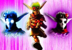 Dark Jak..Light Jak ..both equally awesome xD