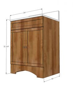Build A Small Bath Vanity With Storage. These Simple, Step By Step  Woodworking Plans. Diy Bathroom ...