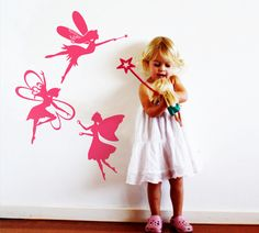 Three gentle fairies wall sticker - another gift for the sister