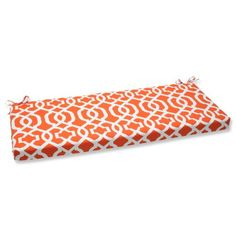Outdoor Cushions  Pillow Perfect Outdoor New Geo Bench Cushion, Orange Patio Design ** This is an Amazon Associate's Pin. Click the VISIT button for detailed description on the website.