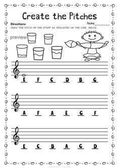 Back to School Treble Clef Note Naming Worksheets My Music Teacher, Music Flashcards, Piano Lessons For Kids, Music Theory Worksheets, Music Lesson Plans, Piano Music, Music Music, Piano Teaching, Music Activities