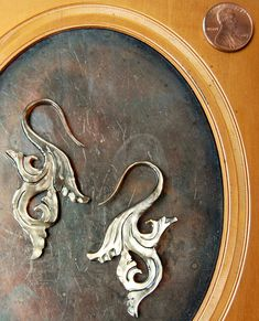 Hand-carved Mother-of-Pearl Shell Earrings by Opulent Antiquity NEED IN MY LIFE