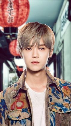 "Luhan 鹿晗 ""Date Superstars"" publicity photo Luhan, Kim Jongdae, K Pop Star, Xiu Min, Kris Wu, Big Bang Top, Gu Family Books, Exo Members, Chinese Boy"