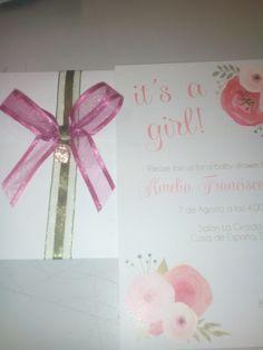 Invitaciones de babyshower girl