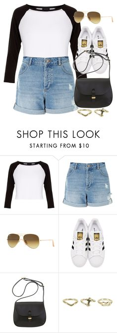 """""""Sin título #12810"""" by vany-alvarado ❤ liked on Polyvore featuring New Look, Miss Selfridge, Ray-Ban, adidas Originals, Mimi Berry and NLY Accessories"""