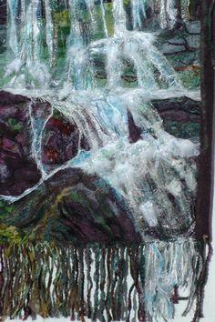 Waterfalls.Landscape Elan Valley. Water Wall by FabricsofNature