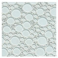 Glass Tile Bubble Blend Mosaic Backsplash Super White Sample Sample Swatch Approx 4x4 Inches Contemporary Mosaic Tile Bubble Glass Mosaic Glass