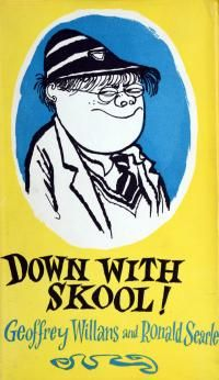 Down with Skool! by Geoffrey Willans and Ronald Searle Ronald Searle, British Humor, Word Pictures, Comic Covers, Book Covers, Vintage Children's Books, Reading Material, School Life, Pulp Fiction