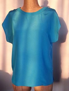 #80s #Vintage #Blue #Blouse #Claiborne Size #Small by Thriftiquities http://etsy.me/14KSj5J via @Etsy #Retro #Fashion #Style
