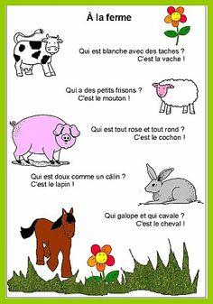 comptine animaux de la ferme