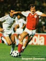 Denmark 5 Yugoslavia 0 in 1984 in Lyon. Klaus Bereggren comes through to make it 2-0 after 16 minutes in Group A at Euro '84.